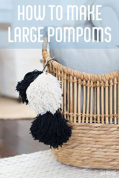 DIY large pompoms for just about everything! Easiest DIY ever.