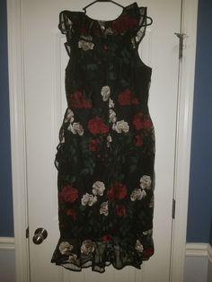 6766a193ca Gianni Bini Embroidered Dress Ruffled Nwt Pink Sz 8  fashion  clothing   shoes