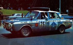 The world's most famous Hillman Hunter was the surprise winner of the 1968 London to Sydney Marathon, shared by the all-British crew of Andrew Cowan, Bria. Van Car, Motor Sport, Rally Car, Brochures, Marathon, Race Cars, Arrow, Sydney, Automobile