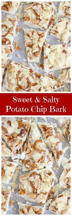 Smoked Salt Pretzel And Potato Chip Chocolate Bark Recipe — Dishmaps