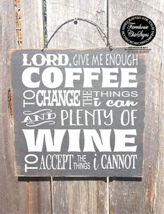 lord give me coffee coffee sign coffee decor by FarmhouseChicSigns