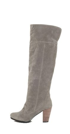 Payton Knee High Boot - Gray #vegan 30th Birthday Wishes, Flats, Sandals, Knee High Boots, Shoe, Vegan, Gray, My Style, Heels