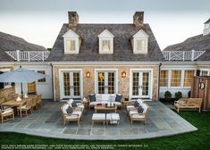 HGTV Dreamhome 2015 - I love this Ethan Allen patio - the lantern, the furniture & french doors leading to it!