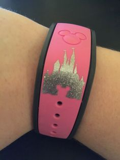 GLITTER Disney Magic Band Decal Disney Castle by MMVinylCreations