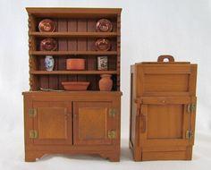 Vintage Dollhouse Furniture for Kitchen Ice by VintagePolkaDotcom, $29.00