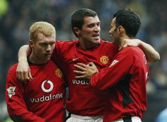 On this day, February 14 2004, ten man United defeat the Blues: Manchester United 4 - 2 Manchester City, (van Nistelrooy 2, Ronaldo, Scholes), FA Cup 5th round.