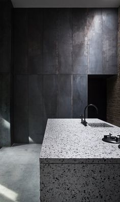 Photographer Peter Krasilnikoff commissioned Studio David Thulstrup for his private residence and studio in #Copenhagen. The guiding inspiration for the project evolved from worn-out warehouses and factories with their blackened steel and old bricks #kitchen