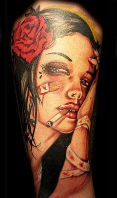 Artista: AJ Sacred Rose. #tattoo #tatuagem #tattooplace www.tattooplace.com.br