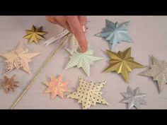 Crafting with Brenda Walton: How to create 3D paper stars. - YouTube