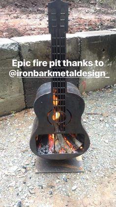 Fire Pits & Log Racks - Iron Bark Metal Design
