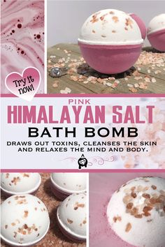 If you are interested in homemade soap recipes you are one of countless men and women from the world over who are equally excited about churning out homemade soap with their own seal of uniqueness. Bath Bomb Recipes, Soap Recipes, Kosmetik Shop, Pink Himalayan Sea Salt, Bath Boms, Savon Soap, Homemade Bath Bombs, Diy Bath Bombs, Homemade Cosmetics
