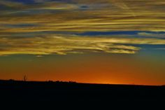 Flint Hills {KS} sunset