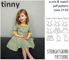4 collars, 3 skirts, 2 sleeves, 1 pattern: the Tinny | StraightGrain