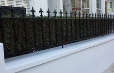 Victorian London Classic Garden Design Mosaic Path Wall Rail Gate .