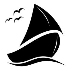 Sailing boat vector graphics - Free vector image in AI and EPS format. Stencil Patterns, Stencil Designs, Vector Graphics, Vector Art, Transférer Des Photos, Boat Vector, Silhouette Design, Silhouette Vector, Nautical Theme