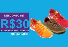 Cupom de desconto Netshoes ganhe R$30 de desconto nas compras acima de R$150