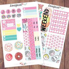 Donut planner stickers kit| erin condren planner stickers| happy planner stickers| mini kit sticker| planner sticker weekly kit| MK013