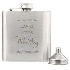 Personalised Hip Flask - Personalised Classic Stainless Steel Hip Flask