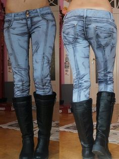 Jean Designs - If you're a fan of comic books, chances are these denim hand drawn jean designs will tickle your fancy. These pants look just like they'...