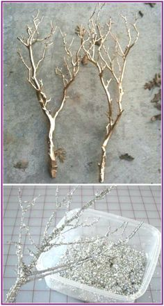 Spray paint or sparkle branches is a cheap way to set the scene at a winter wedding. The Best 31 DIYs and Hacks To Save Money On Your Wedding winter wedding The Best 31 DIYs and Hacks To Save Money On Your Wedding Wedding Ceremony, Our Wedding, Dream Wedding, Wedding Rings, Wedding Venues, Perfect Wedding, Wedding Rustic, Fall Wedding, Winter Wedding Centre Pieces