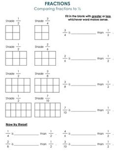 math worksheet : fractions worksheets fractions and worksheets on pinterest : Comparing Ordering Fractions Worksheet