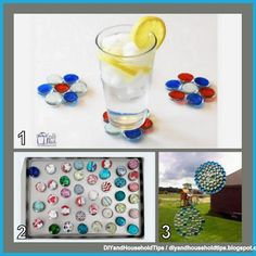 DIY And Household Tips: 3 Crafts Using Dollar Tree Glass Pebble