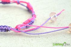 Finished adjustable slip knot friendship bracelet