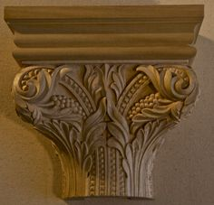 Capital. Romanesque copy from the collegiate church in Aschaffenburg. Germany. Hand carved by Agrell Architectural Carving.