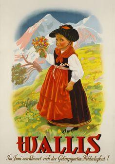 Wallis, Im Juni erschliesset sich des Gebirgsgartens Holdseligkeit ! Aubert 1940