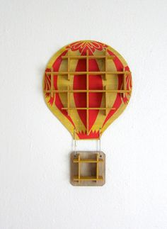 Vintage Hot Air Balloon Shelf Display Case