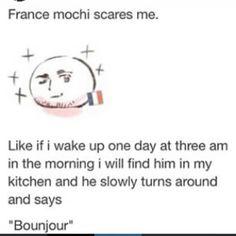 no..... (<original text) (me) you say non I say Oui Oui moi amour