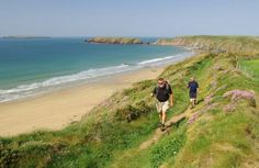 Marloes Sands and part of the coast path.