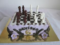 Chess game cake