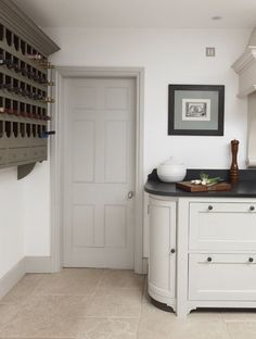 """Farrow and Ball """"French Grey"""" number 18 for a similar colour to the door and skirting board"""