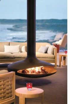 Gyrofocus - 360deg pivoting fireplace (Voted for as the world's most beautiful object)