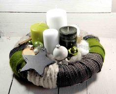 Adventskranz - Adventskranz,Weihnachtsdeko,Kerzen,Weihnachten - ein Designerstück von Dekowerk bei DaWanda
