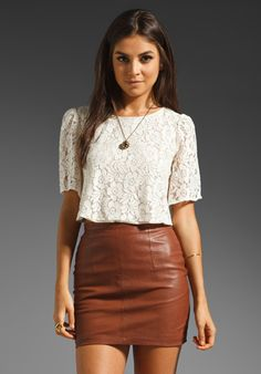 6 SHORE ROAD Choya Crop Top in Bone Lace at Revolve Clothing - Free Shipping!