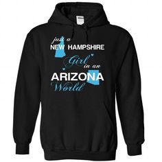 (NHJustXanh001) Just A New Hampshire Girl In A Arizona  - #tshirt painting #tshirt jeans. ORDER HERE => https://www.sunfrog.com/Valentines/-28NHJustXanh001-29-Just-A-New-Hampshire-Girl-In-A-Arizona-World-Black-Hoodie.html?68278