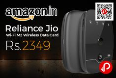 Amazon #LightningDeal is offering Reliance #Jio Wi-Fi #M2 #Wireless #DataCard Just at Rs.2349. LTE WAN (2300/1800/850MHz), WLAN: IEEE 802.11 b/g/n 2.4G only, Max. Users : 31 (Wi-Fi) + 1 (USB tethering), Operating Temperature : 0 Degree celcius – 40 Degree celcius, Operating Humidity : 5% to 95% (non-condensing), 4 GB ROM and 2GB RAM, Micro-USB port, Micro-SIM card Interface.   http://www.paisebachaoindia.com/reliance-jio-wi-fi-m2-wireless-data-card-just-at-rs-2349-amazon/