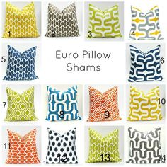 Euro Pillow Sham Floor Pillow Covers Floor Cushions by EastAndNest