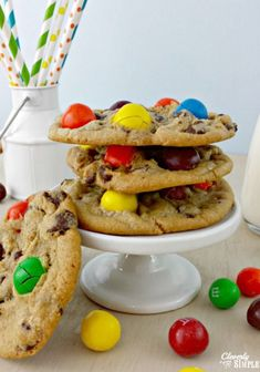 Grab a bag of M&M's and make this delicious cookie recipe!