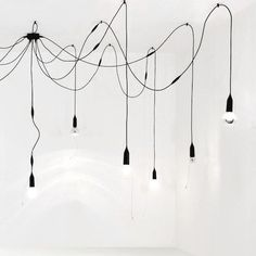 | CONCEPT | Lighting | messy. order ... repeat, repeat, repeat makes for unique feature to highlight various areas. #lighting