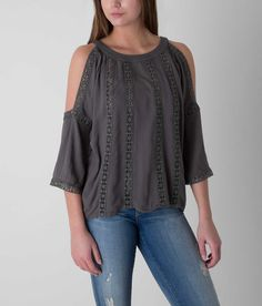 BKE red Cold Shoulder Top - Women's Shirts/Tops | Buckle