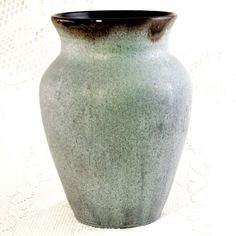 Beautiful Wheel Thrown Large Blue Pottery Vase (I like this because of the blue and the fade of green)