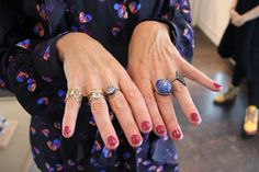 Our designer Shiri combines a lot of different rings for a unique look