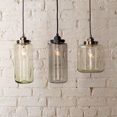 Vintage glass pendant lights need antique style bulbs. #lighting