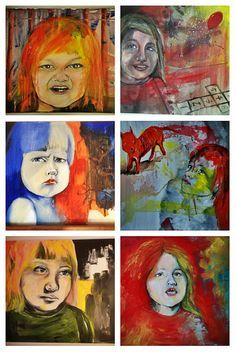 Serie of Acrylic paintings. Expression