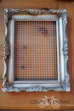 DIY picture frame earring holder // super easy tutorial! // crafts & brews