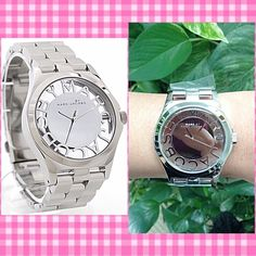 Authentic Marc By Marc Jacobs Silver Watch % AUTHENTIC ✨ Gorgeous polished silver tone women's watch from Marc by Marc Jacobs  Stainless steel case w/ stainless steel bracelet  Scratch resistant mineral crystals.✨ Water resistant at 50 meters✨ perfect every day watch New with tag✨ Box & card included NO TRADE  Marc by Marc Jacobs Accessories Watches