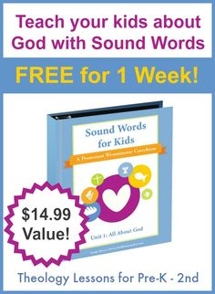 Teach your children all about God with sound words. Christian living encouragement from Kids in the Word